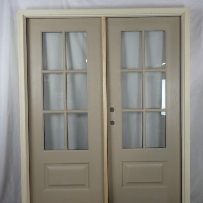 60.5 Front Double Door in Stainable Fiberglass to Replace Sidelite Unit
