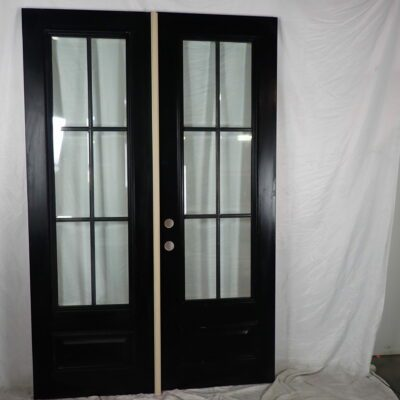 "60.5"" Double Front Door Slabs to be custom pre-hung by request to replace sidelite unit with transom"