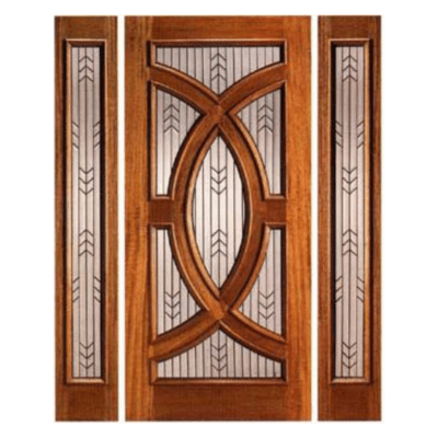 Modern Mahogany Decorative Sidelite Unit Front Door - PL01 - SPECIAL ORDER