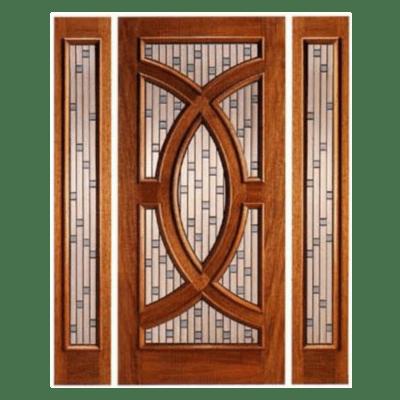 Modern Mahogany Decorative Sidelite Unit Front Door - PL02 - SPECIAL ORDER