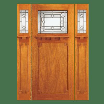 Craftsman Mahogany Sidelite Unit Front Door - 707A-SPECIAL ORDER