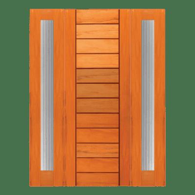 Modern Mahogany Sidelite Unit Front Door - R22 - SPECIAL ORDER