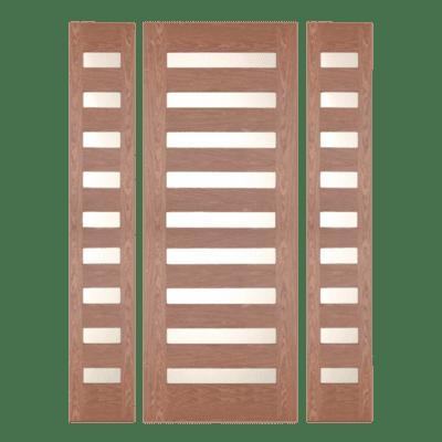 Modern Walnut Sidelite Unit Front Door - 590 - SPECIAL ORDER
