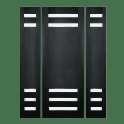 Modern Walnut Sidelite Unit Front Door - 5005 - SPECIAL ORDER