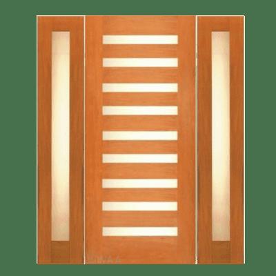 Modern Walnut Sidelite Unit Front Door - 5001 - SPECIAL ORDER